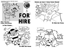 For Hire Chibi Comics FCBD cover 1-3 by ChibiCelina