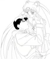 Sailor Moon And Endymion-Blank by usagisailormoon20