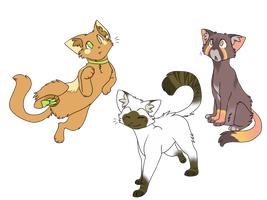 New Kitty Characters by SnowyCakes