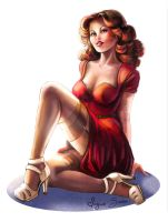 Trinquette Challenge - Pinup of the 50' by VirginieSiveton