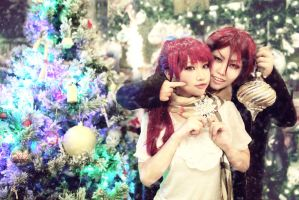 Rin and Gou with Xmas Tree by MonicaWos