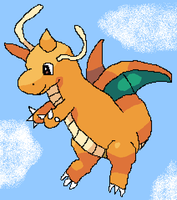 Dragonite Flying for Kian by Shadow-Cipher