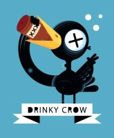 Drinky Crow by Helbetico