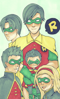 robins robins everywhere by Nikufei
