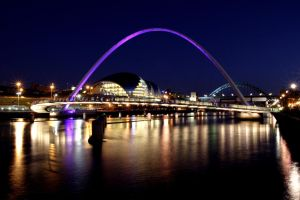 Newcastle gateshead  at night by GailJohnson