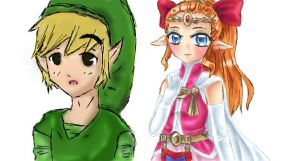 Link and Zelda collab by Coco-of-the-Forest