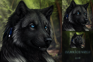 DarkIceWolf Icon by DarkIceWolf