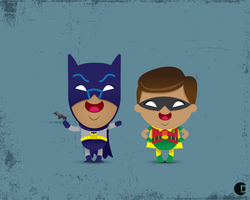 Classic Batman and Robin by cdup999