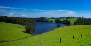 Pastures and Lake by addr010