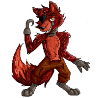 Foxy the pixel pirate by WolvesHaveNightmares