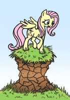 Artist Training Grounds - Day 4: Pony on a Hilltop by Wolframclaws