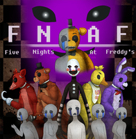 Five Nights At Freddy's (Promo/Movie Poster) by Muruni