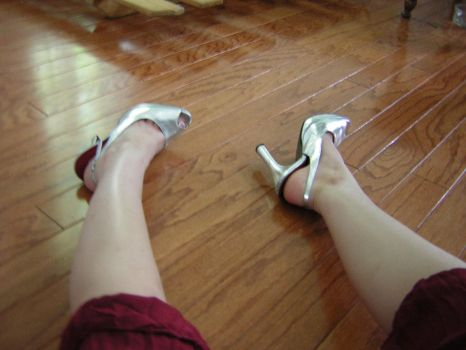 Little Girl in Silver Shoes by thecherrybombshell
