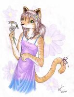 Flower Cat by ashkey