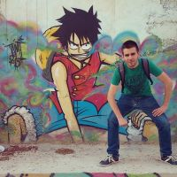 Luffy and me by BetweenDL