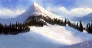 Snowy Mountains by ghost549