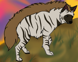 Striped hyena by DianaAxeKick
