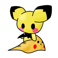 Little Pichu With his Planket by Ryotsu-san