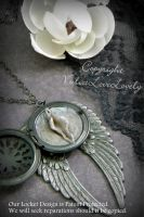 Weeping Angel: Yonic Vulva Locket by VulvaLoveLovely