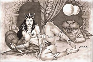 DEJAH THORIS, whit copic markers !!! by carlosbragaART80