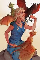 Mother of Dragons by Coralic