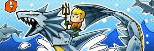 Scribblenauts Aquaman by slifertheskydragon