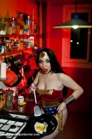 WONDER WOMAN  FUNNY COOK by EnModeCroft