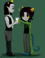 Nepeta and Equius by xPrismatics