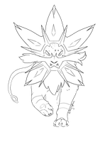 Solgaleo Lineart by Alithographica