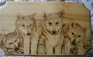 Wolf Pup Stool Top by piecesoeight