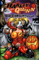 Naughty Harleyween sketch cover by gb2k