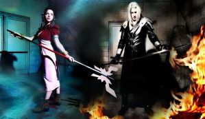 Aerith and Sephiroth, FFVII by DavidCosplay