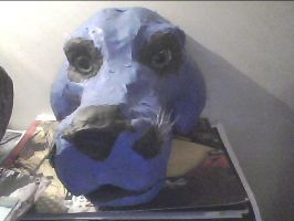 front veiw of my mask base. by wolf-child1995