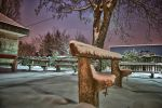 Train station bench HDR by Seth890603