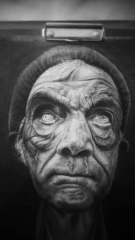 some old man with pencil by psychollama-art