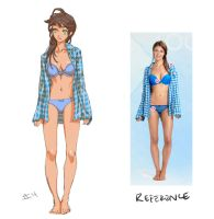 The Girl in Blue Plaid by JetEffects