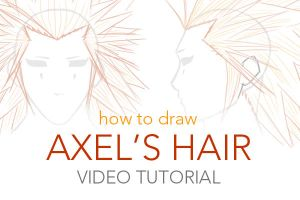 TUT: How to Draw Axel's Hair by Soranu