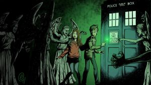Tardis-amy-pond-eleventh-doctor-doctor-who-weeping by emptychildren
