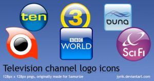 Television Channel logo icons by JyriK