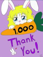Bunnie says Thank You by LindyArt