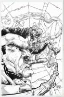spidey vs Jameson by Vinz-el-Tabanas