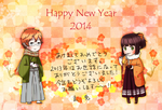 Happy New Year 2014 by blackbunny331