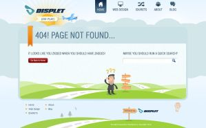 Displet 404 Page Design by bilalm