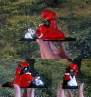 Red Riding Hood and Alice in Wonderland by whatonearth