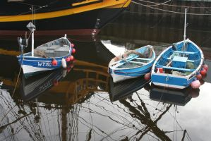 Boats in the harbour by Singingnaturist