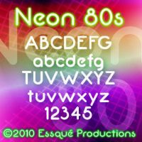 Neon 80s Font by Milomax27