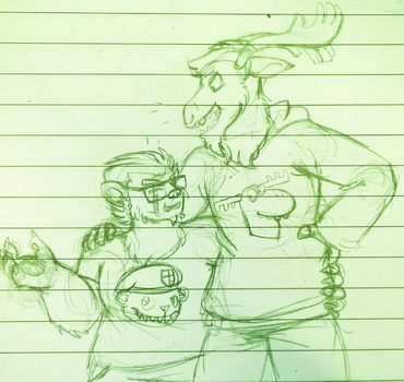 [dudes holding hands emoji] by HedgehodgeMonster