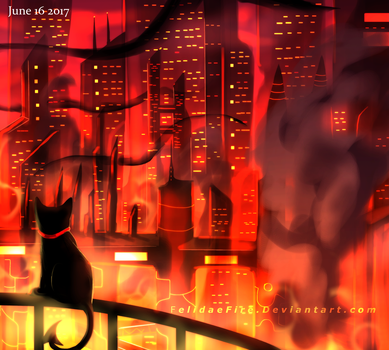 Who Will Live With The Fire by FelidaeFire