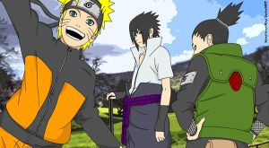 Naruto Sasuke and Shikamaru by Xpand-Your-Mind