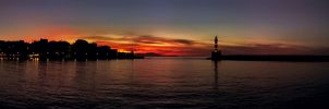 Sunset on Port Chania by BillyNikoll